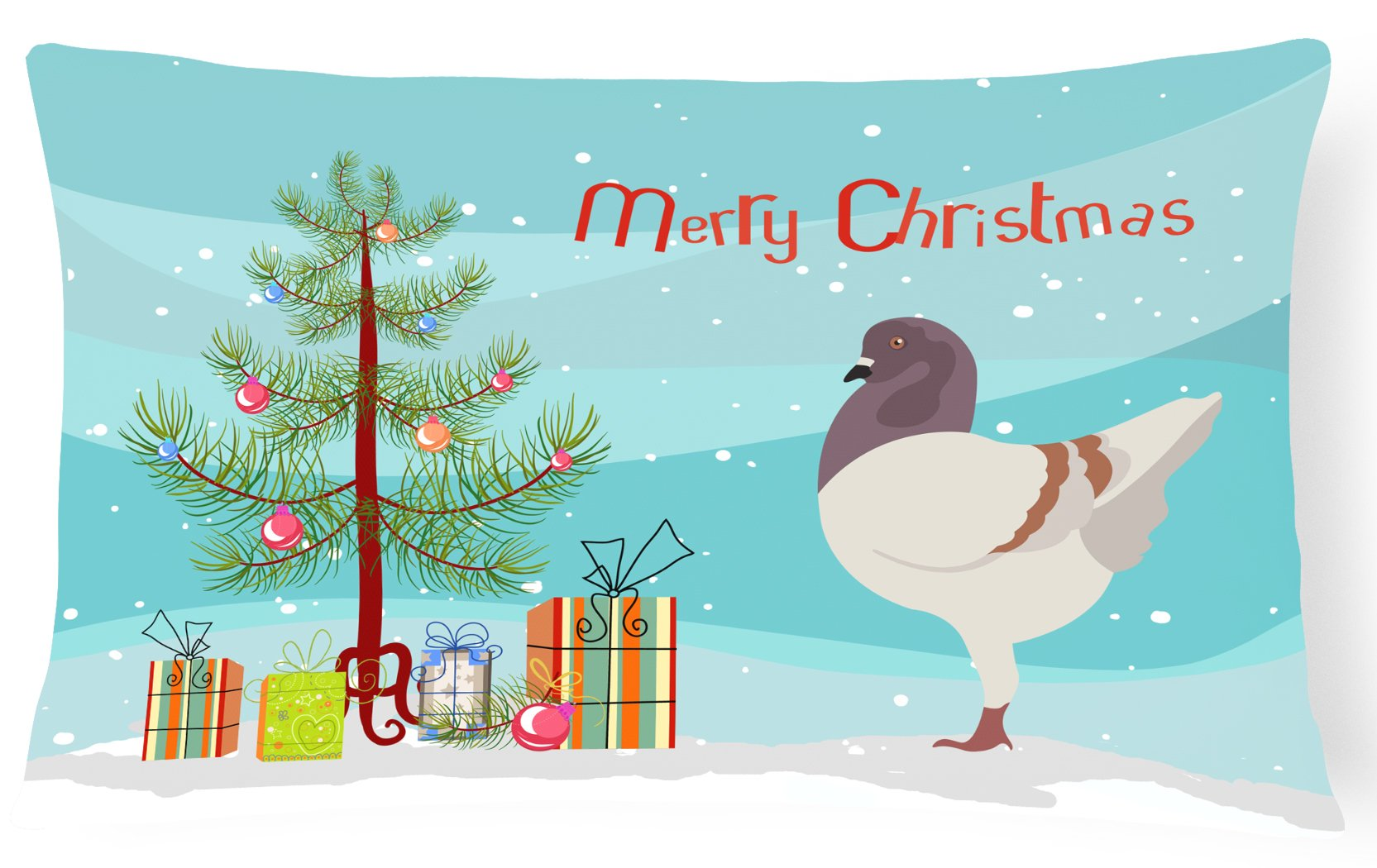 Buy this German Modena Pigeon Christmas Canvas Fabric Decorative Pillow BB9316PW1216
