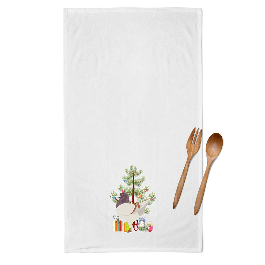 Buy this German Modena Pigeon Christmas White Kitchen Towel Set of 2 BB9316WTKT