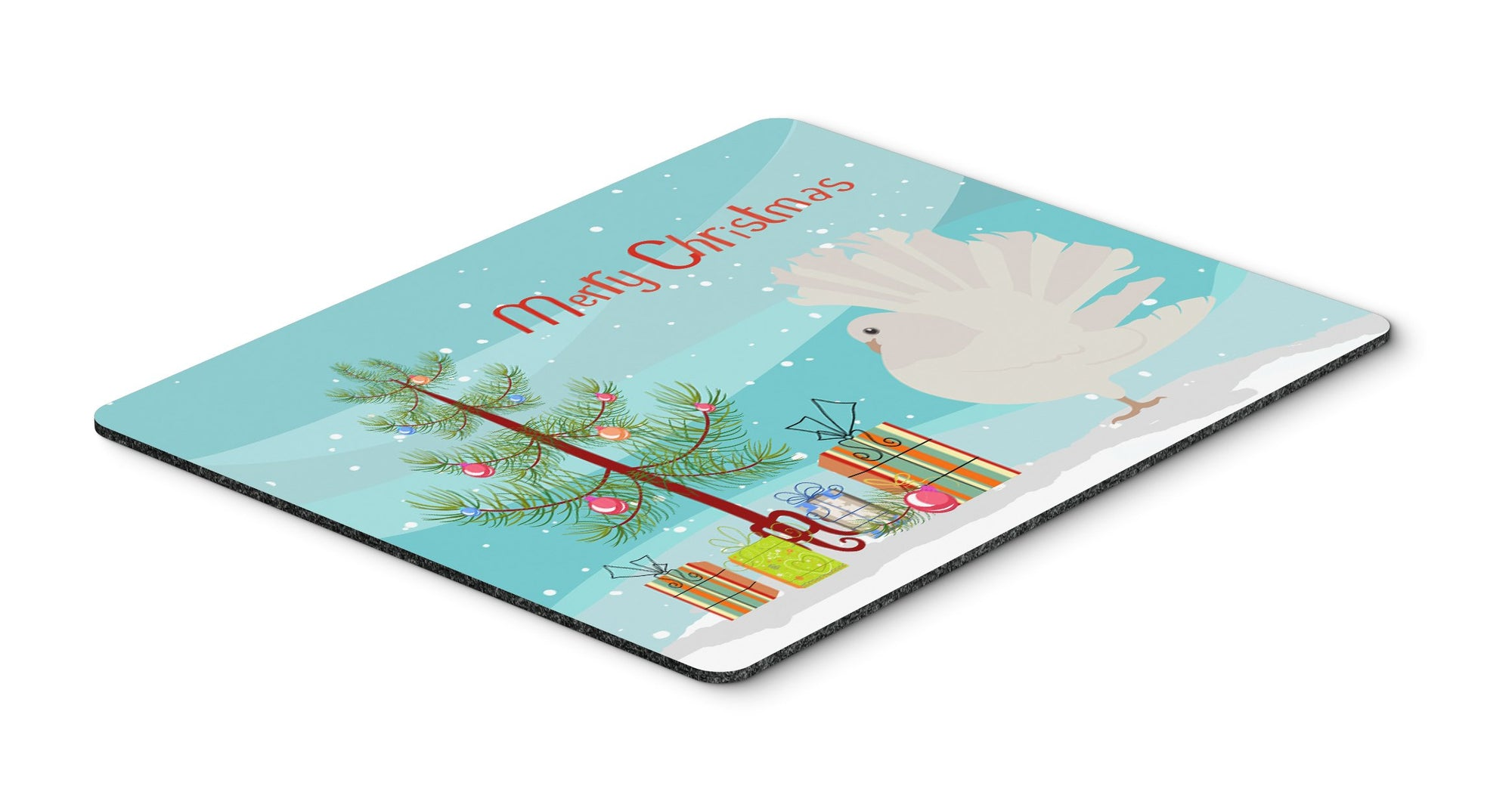 Silver Fantail Pigeon Christmas Mouse Pad, Hot Pad or Trivet BB9317MP by Caroline's Treasures