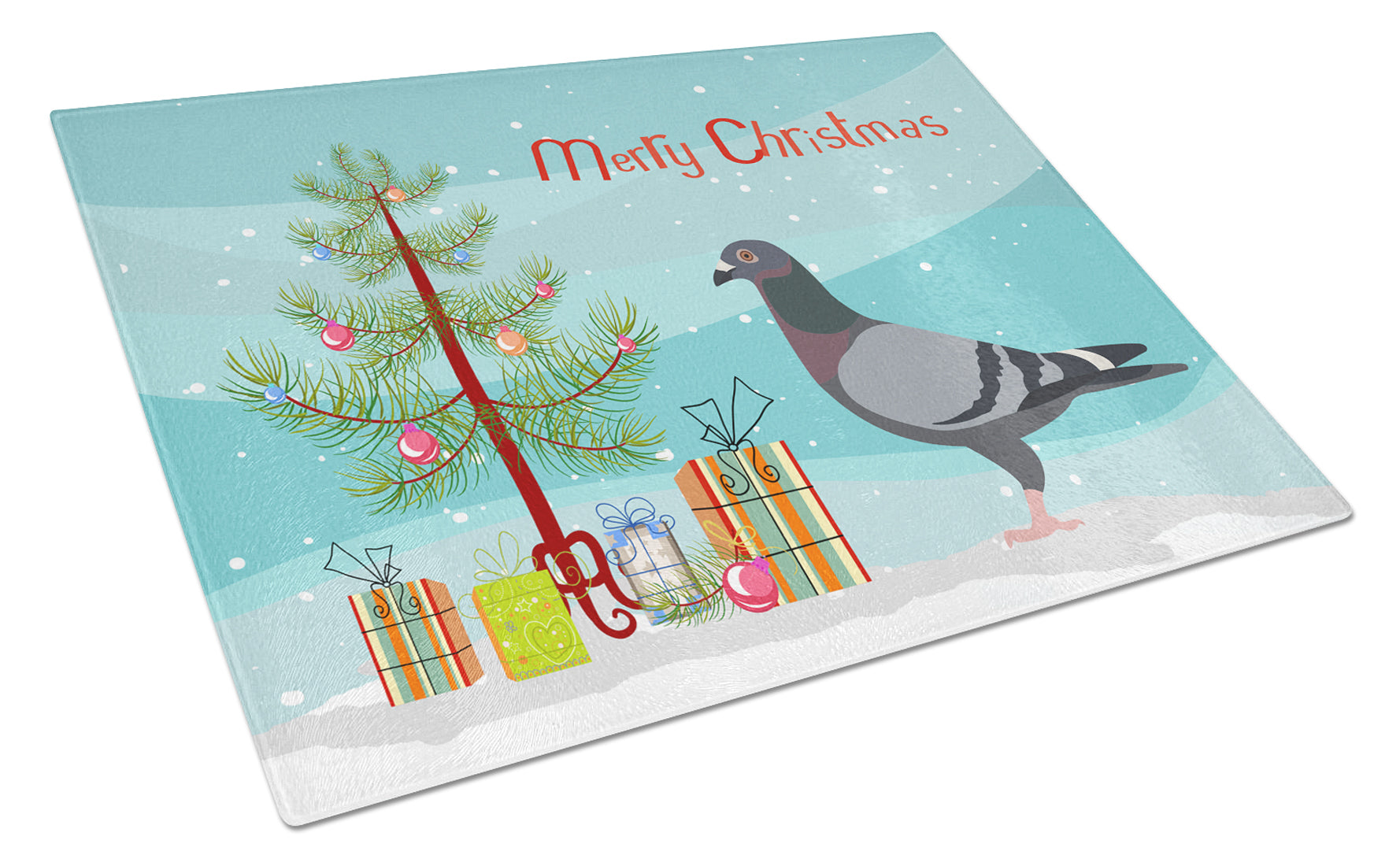 Buy this Racing Pigeon Christmas Glass Cutting Board Large BB9318LCB