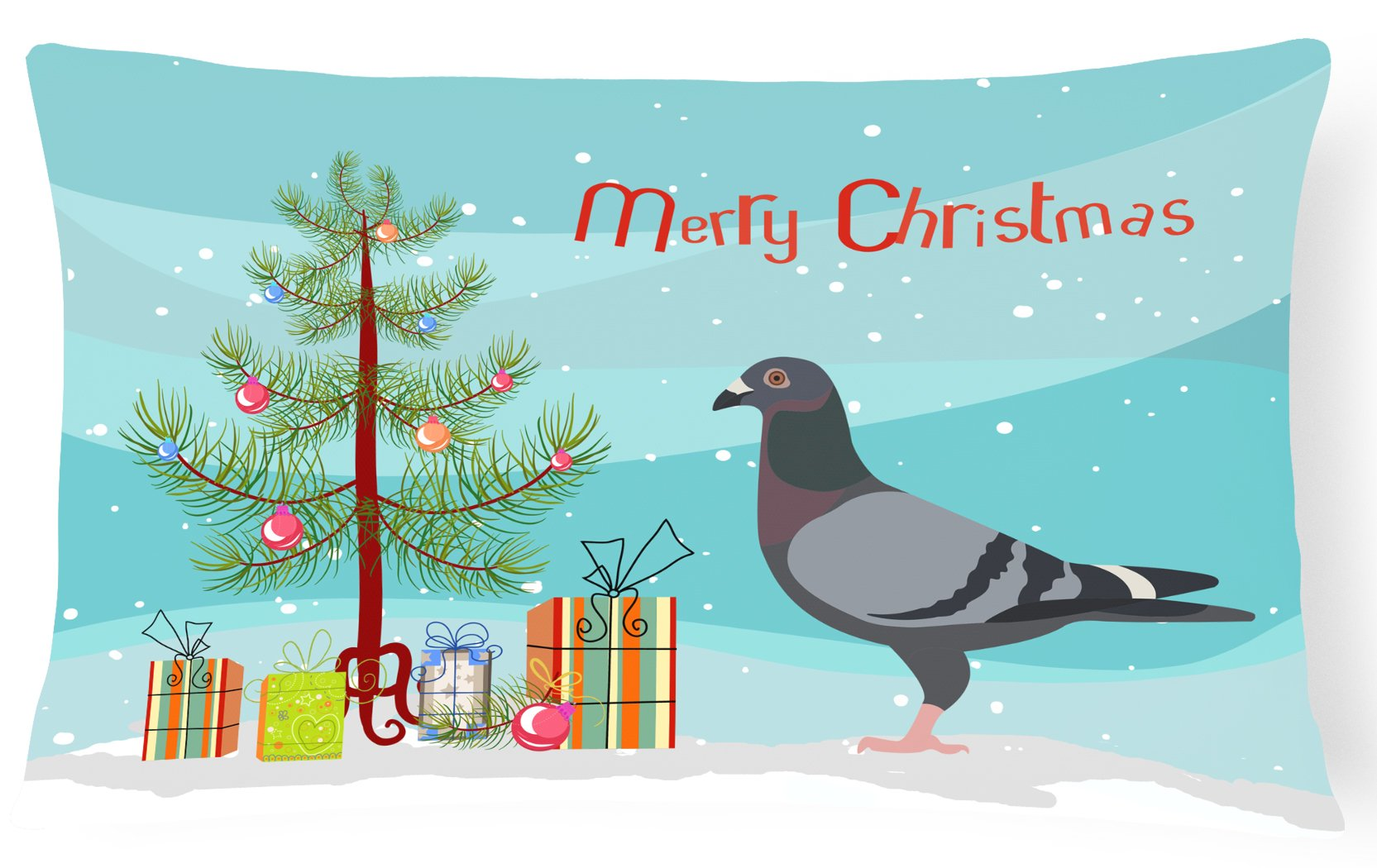 Buy this Racing Pigeon Christmas Canvas Fabric Decorative Pillow BB9318PW1216