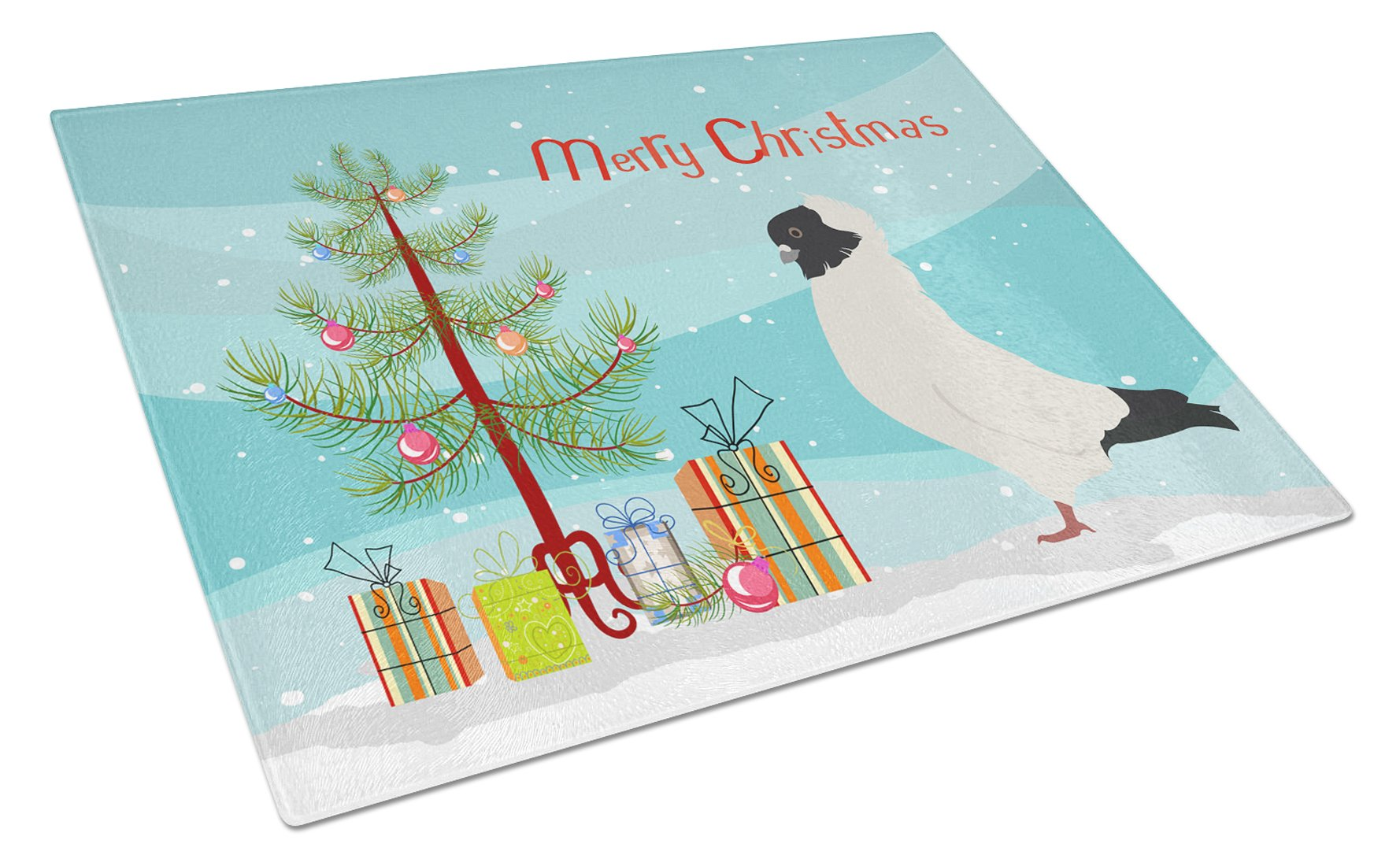 Buy this Nun Pigeon Christmas Glass Cutting Board Large BB9319LCB