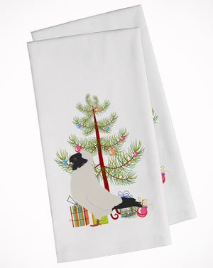 Buy this Nun Pigeon Christmas White Kitchen Towel Set of 2 BB9319WTKT