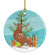 Buy this African Owl Pigeon Christmas Ceramic Ornament BB9320CO1