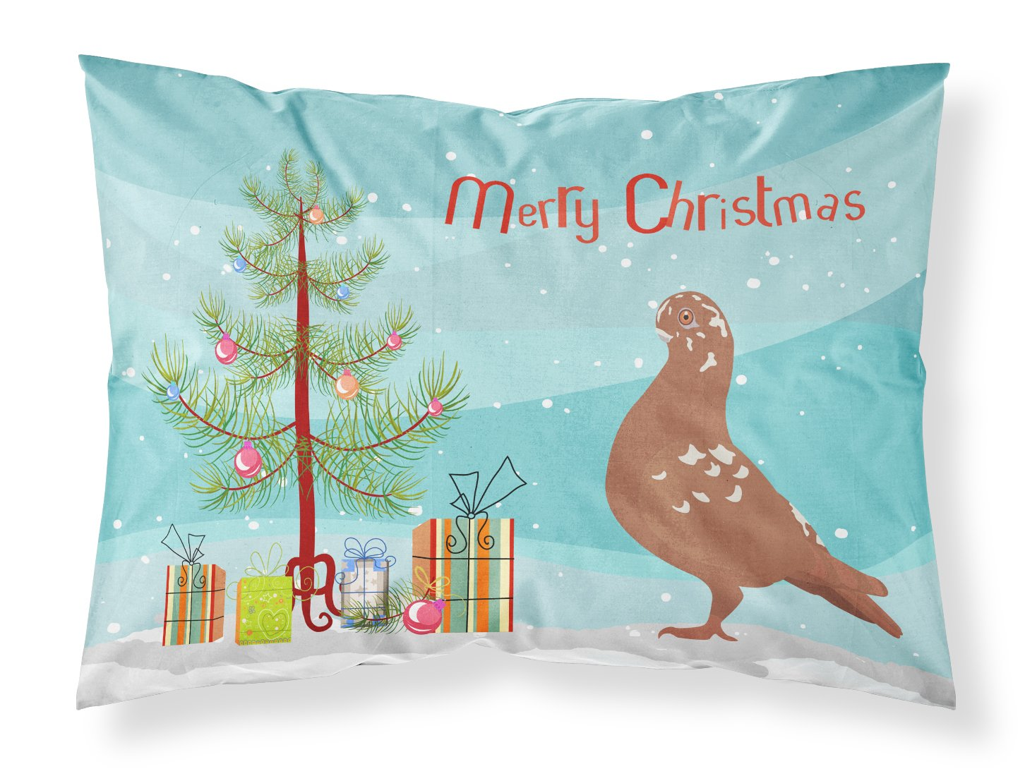 African Owl Pigeon Christmas Fabric Standard Pillowcase BB9320PILLOWCASE by Caroline's Treasures