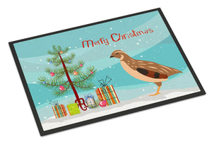 Buy this Golden Phoenix Quail Christmas Indoor or Outdoor Mat 24x36 BB9322JMAT
