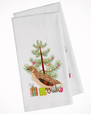 Buy this Golden Phoenix Quail Christmas White Kitchen Towel Set of 2 BB9322WTKT