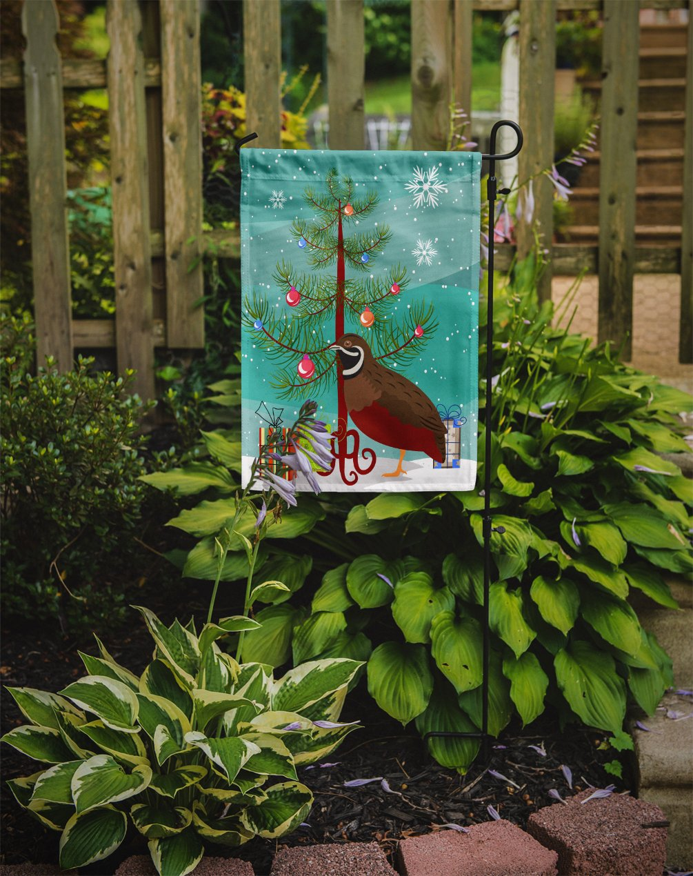 Chinese Painted or King Quail Christmas Flag Garden Size BB9323GF by Caroline's Treasures