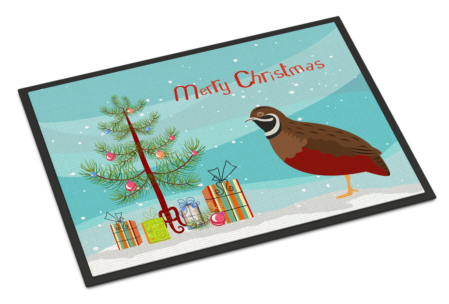 Chinese Painted or King Quail Christmas Indoor or Outdoor Mat 24x36 BB9323JMAT by Caroline's Treasures