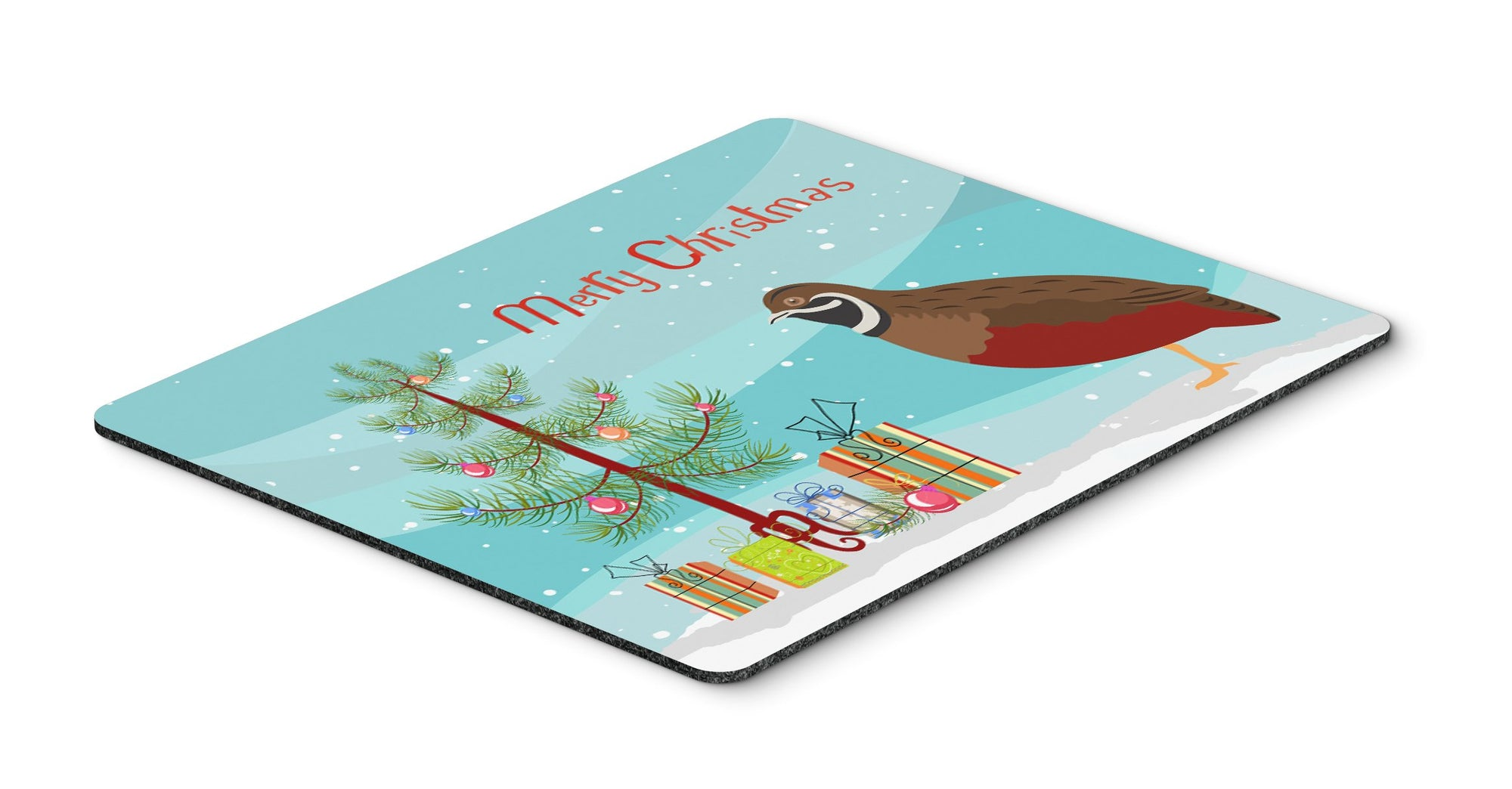 Chinese Painted or King Quail Christmas Mouse Pad, Hot Pad or Trivet BB9323MP by Caroline's Treasures