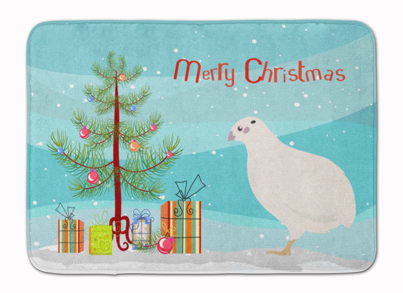 Buy this Texas Quail Christmas Machine Washable Memory Foam Mat BB9324RUG