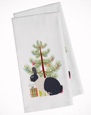 Buy this Dutch Rabbit Christmas White Kitchen Towel Set of 2 BB9325WTKT
