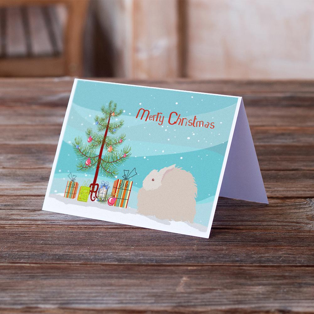Buy this Fluffy Angora Rabbit Christmas Greeting Cards and Envelopes Pack of 8