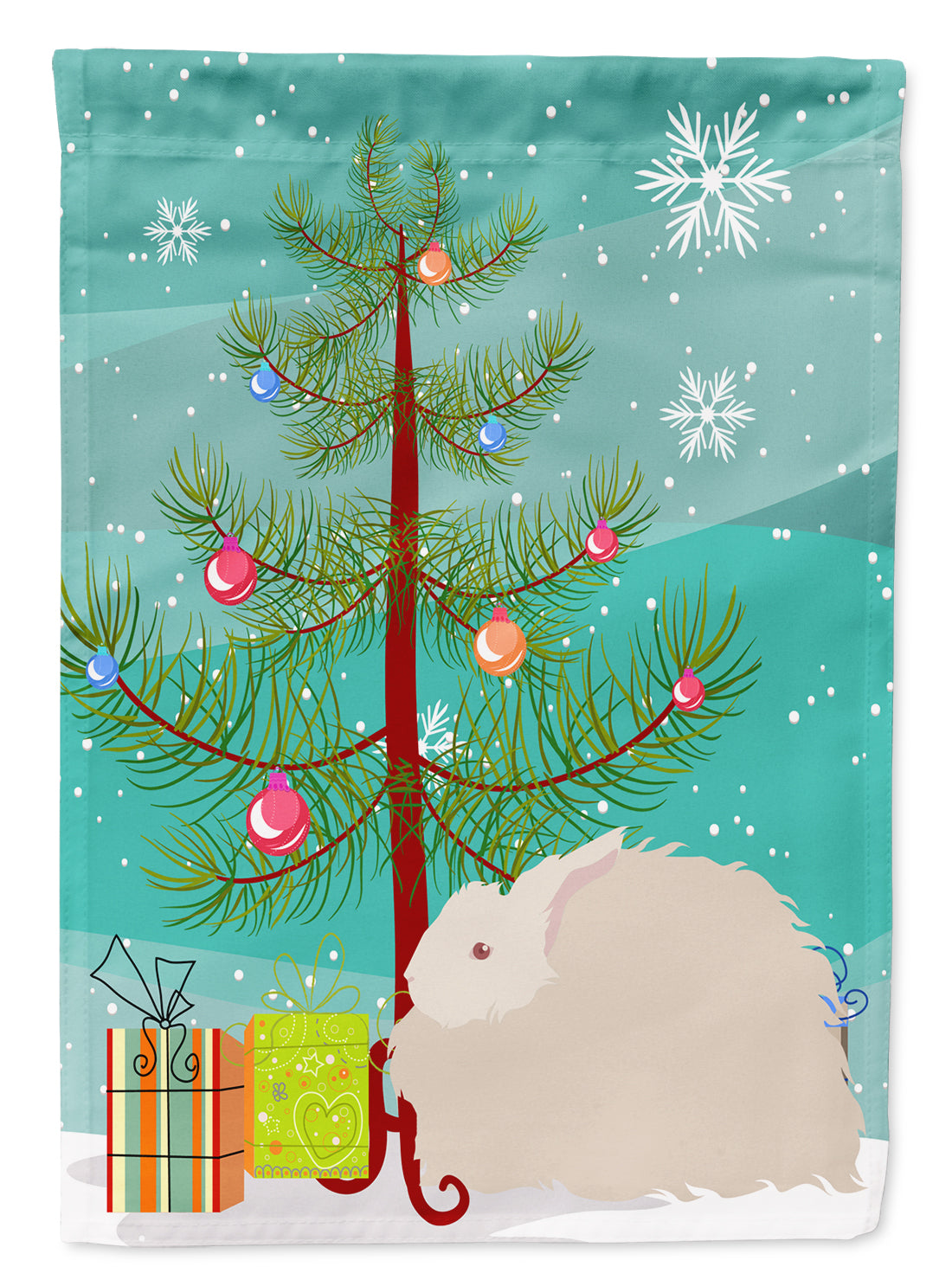 Fluffy Angora Rabbit Christmas Flag Garden Size BB9326GF by Caroline's Treasures