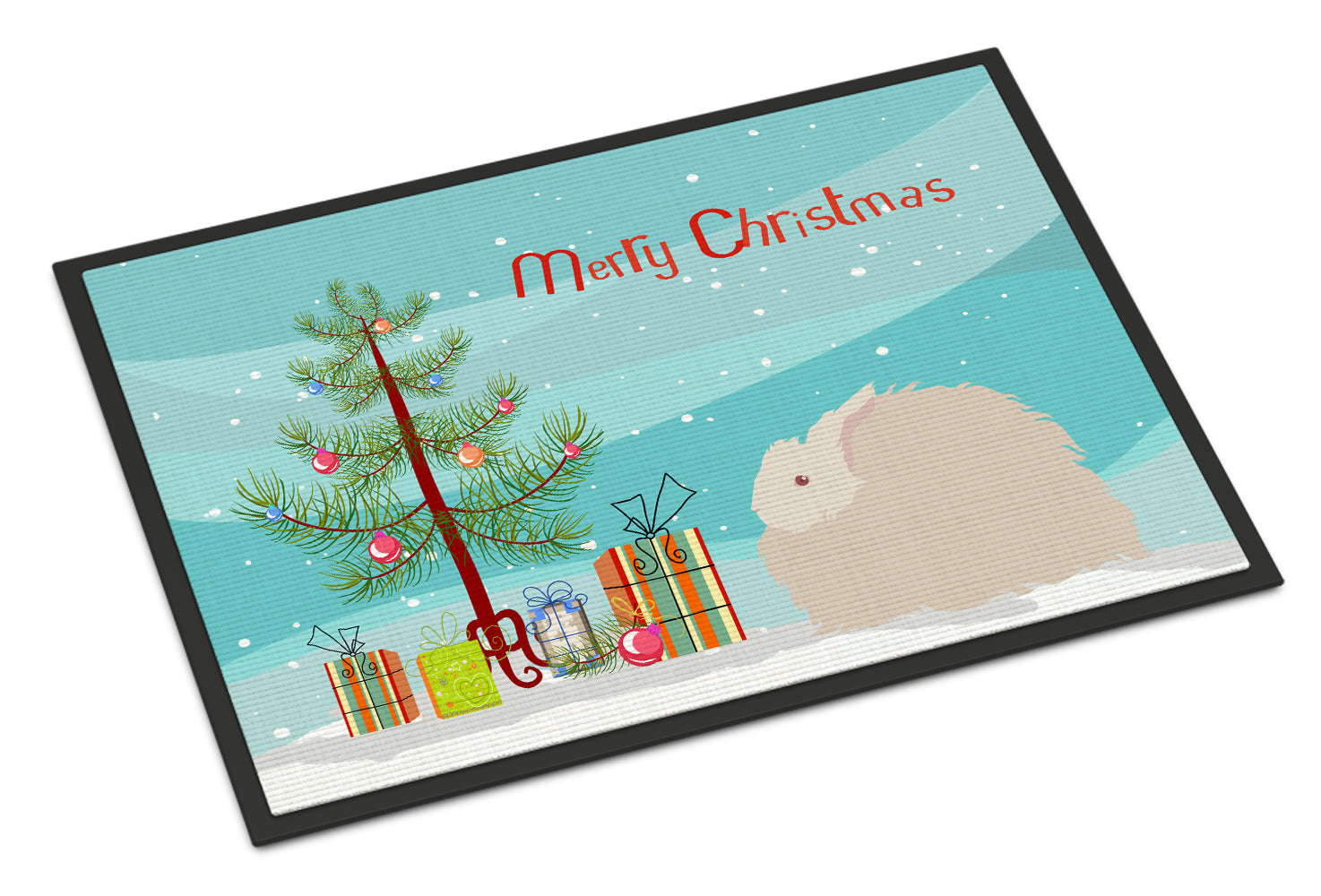 Fluffy Angora Rabbit Christmas Indoor or Outdoor Mat 18x27 BB9326MAT by Caroline's Treasures