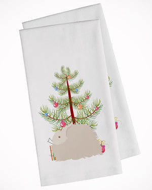 Buy this Fluffy Angora Rabbit Christmas White Kitchen Towel Set of 2 BB9326WTKT