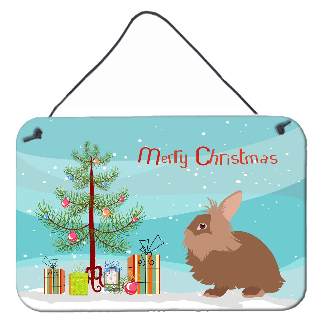 Lionhead Rabbit Christmas Wall or Door Hanging Prints BB9327DS812 by Caroline's Treasures