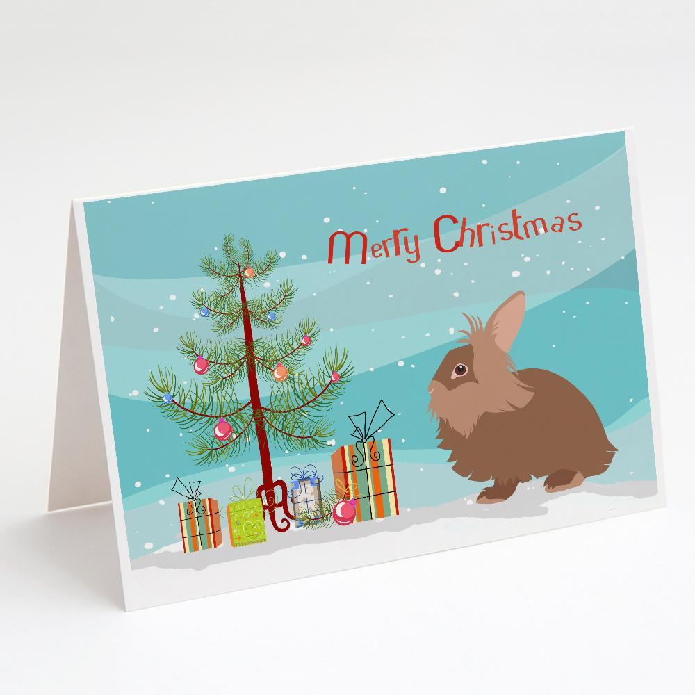 Buy this Lionhead Rabbit Christmas Greeting Cards and Envelopes Pack of 8