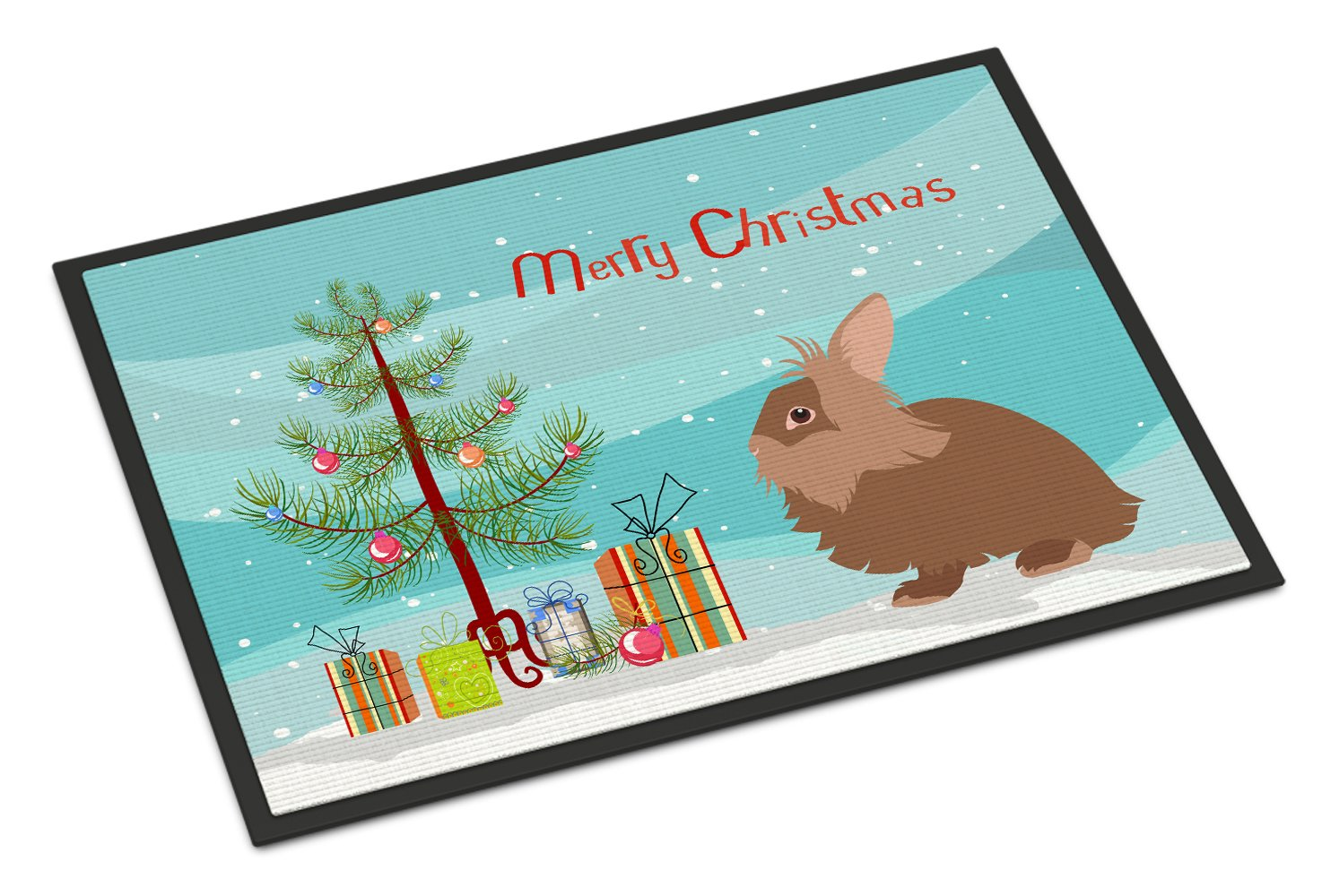 Lionhead Rabbit Christmas Indoor or Outdoor Mat 24x36 BB9327JMAT by Caroline's Treasures