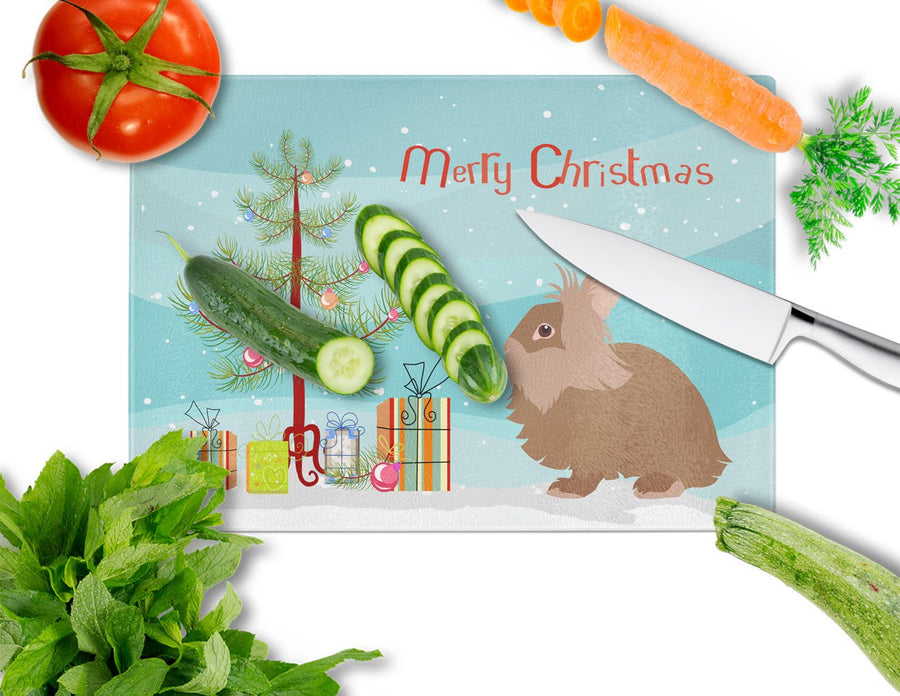 Buy this Lionhead Rabbit Christmas Glass Cutting Board Large BB9327LCB