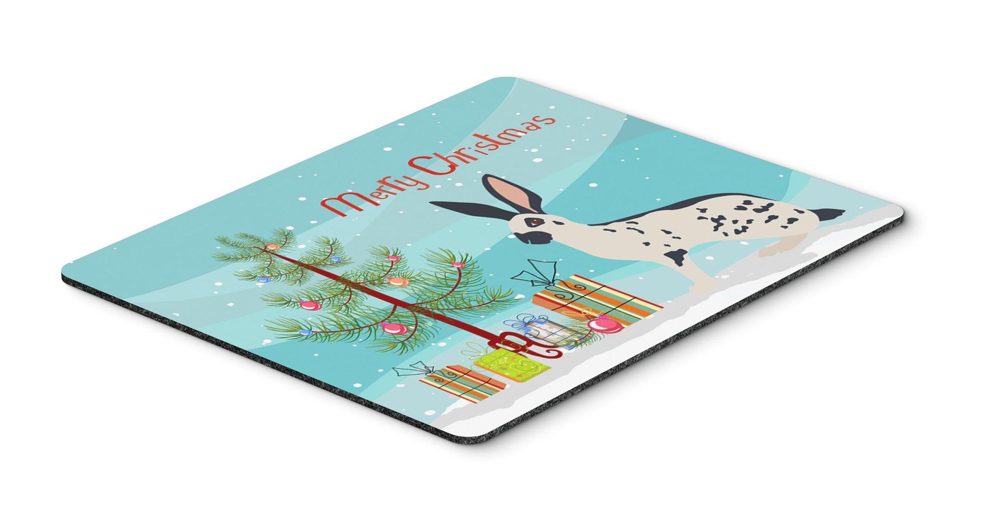 English Spot Rabbit Christmas Mouse Pad, Hot Pad or Trivet BB9328MP by Caroline's Treasures