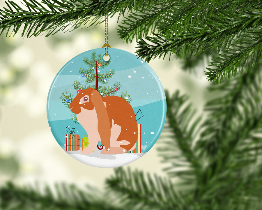 Buy this English Lop Rabbit Christmas Ceramic Ornament BB9329CO1
