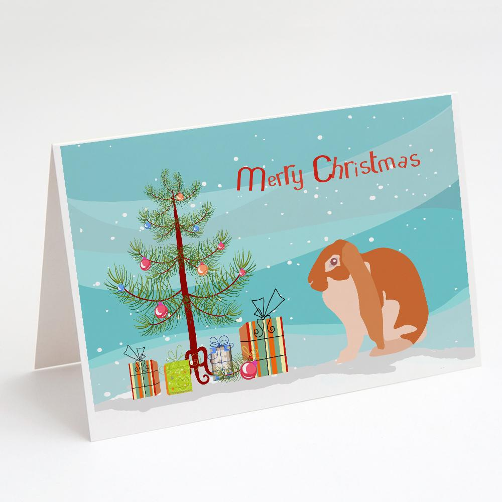 Buy this English Lop Rabbit Christmas Greeting Cards and Envelopes Pack of 8