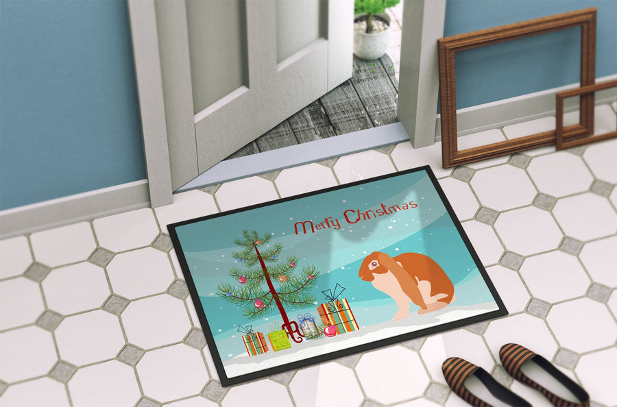 Buy this English Lop Rabbit Christmas Indoor or Outdoor Mat 24x36 BB9329JMAT
