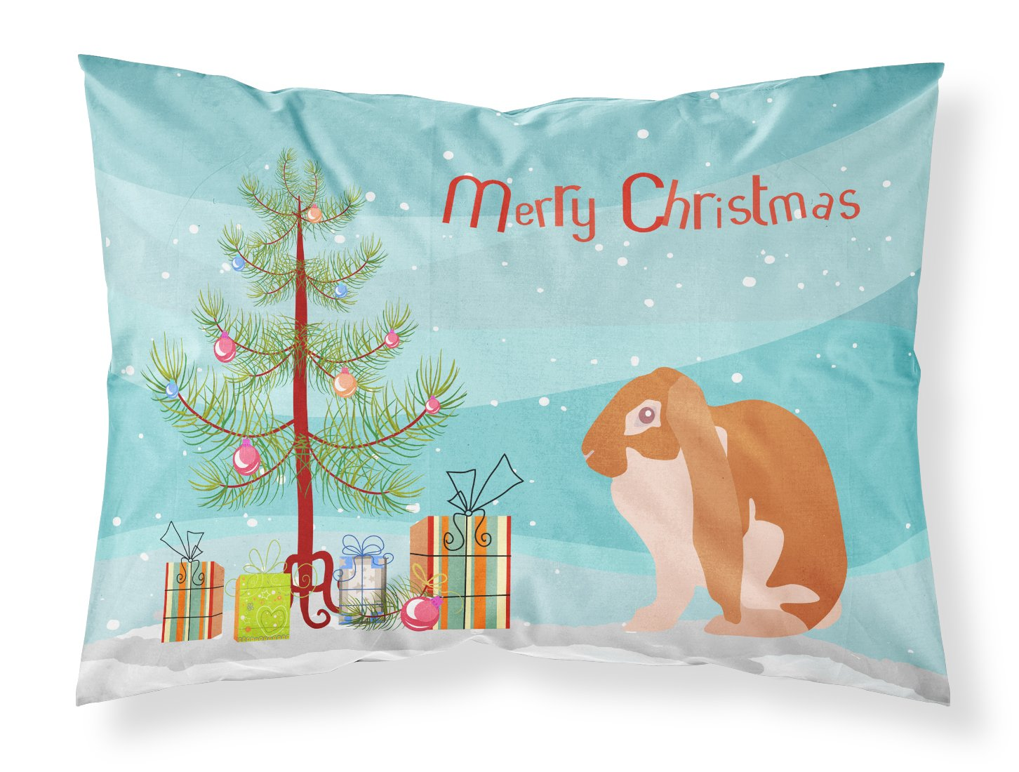 Buy this English Lop Rabbit Christmas Fabric Standard Pillowcase BB9329PILLOWCASE
