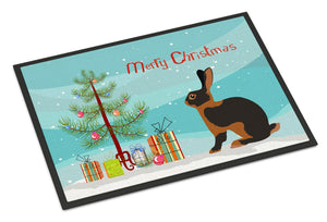 Buy this Tan Rabbit Christmas Indoor or Outdoor Mat 24x36 BB9330JMAT