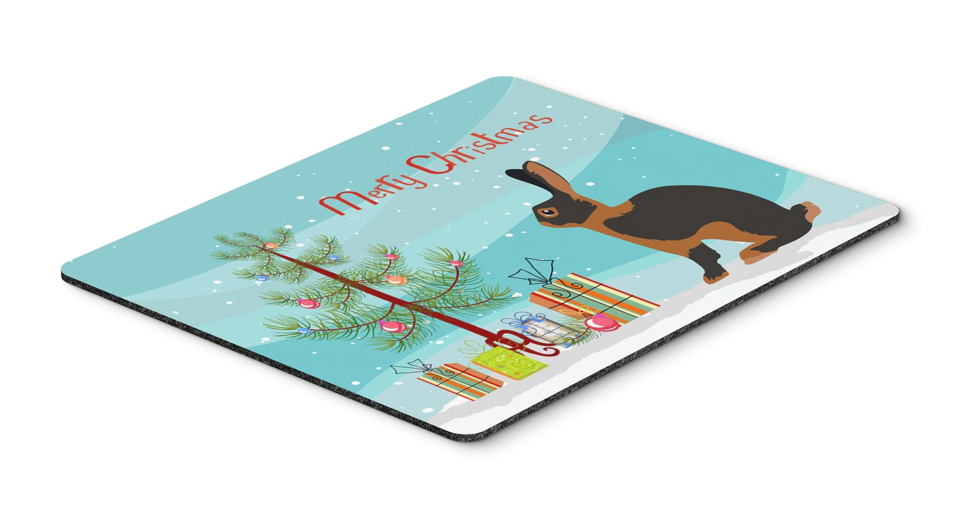 Tan Rabbit Christmas Mouse Pad, Hot Pad or Trivet BB9330MP by Caroline's Treasures