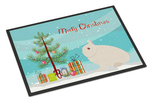 Buy this Hermelin Rabbit Christmas Indoor or Outdoor Mat 24x36 BB9331JMAT