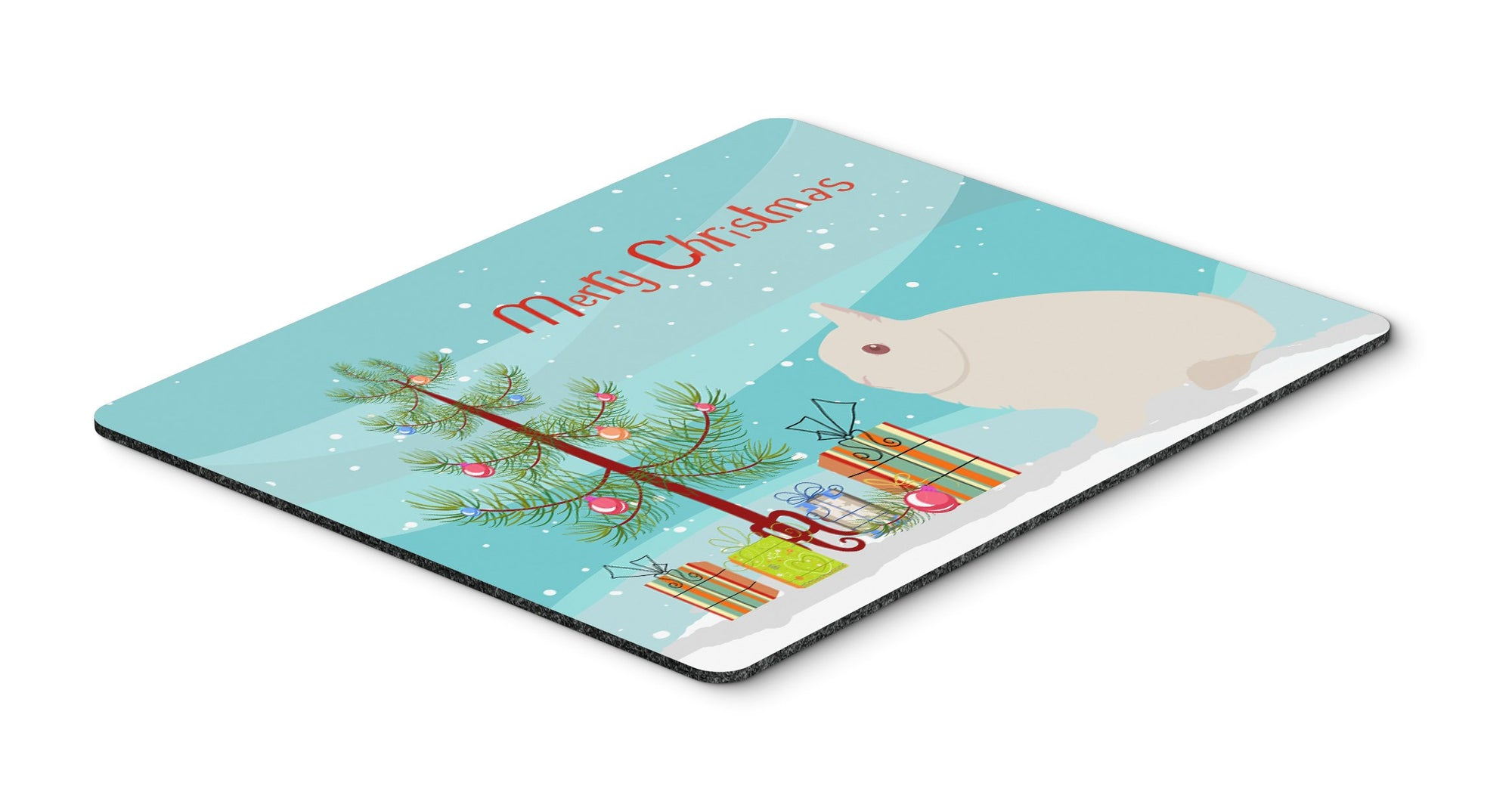 Hermelin Rabbit Christmas Mouse Pad, Hot Pad or Trivet BB9331MP by Caroline's Treasures