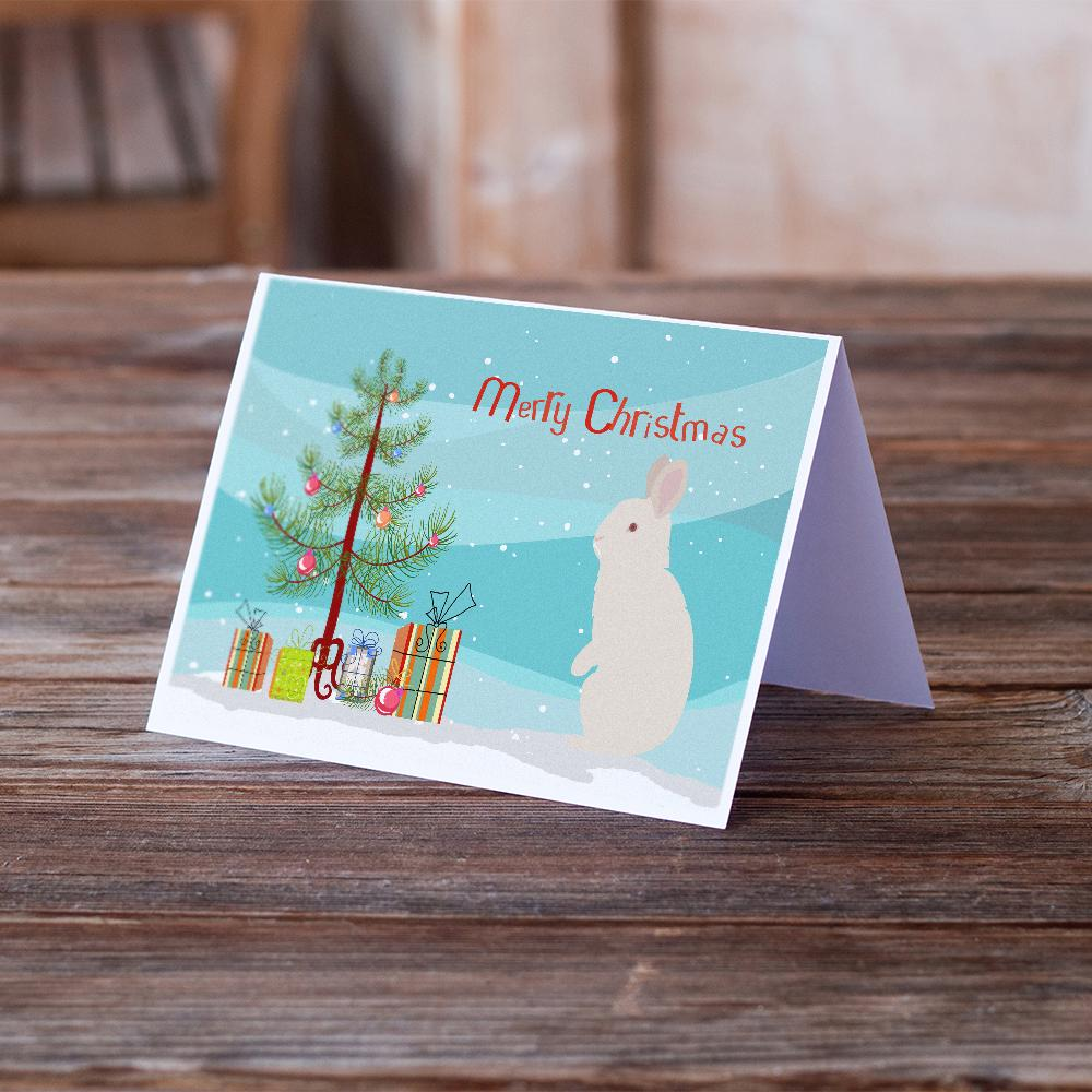 Buy this New Zealand White Rabbit Christmas Greeting Cards and Envelopes Pack of 8
