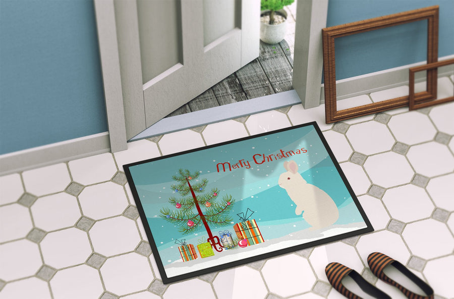 Buy this New Zealand White Rabbit Christmas Indoor or Outdoor Mat 24x36 BB9332JMAT