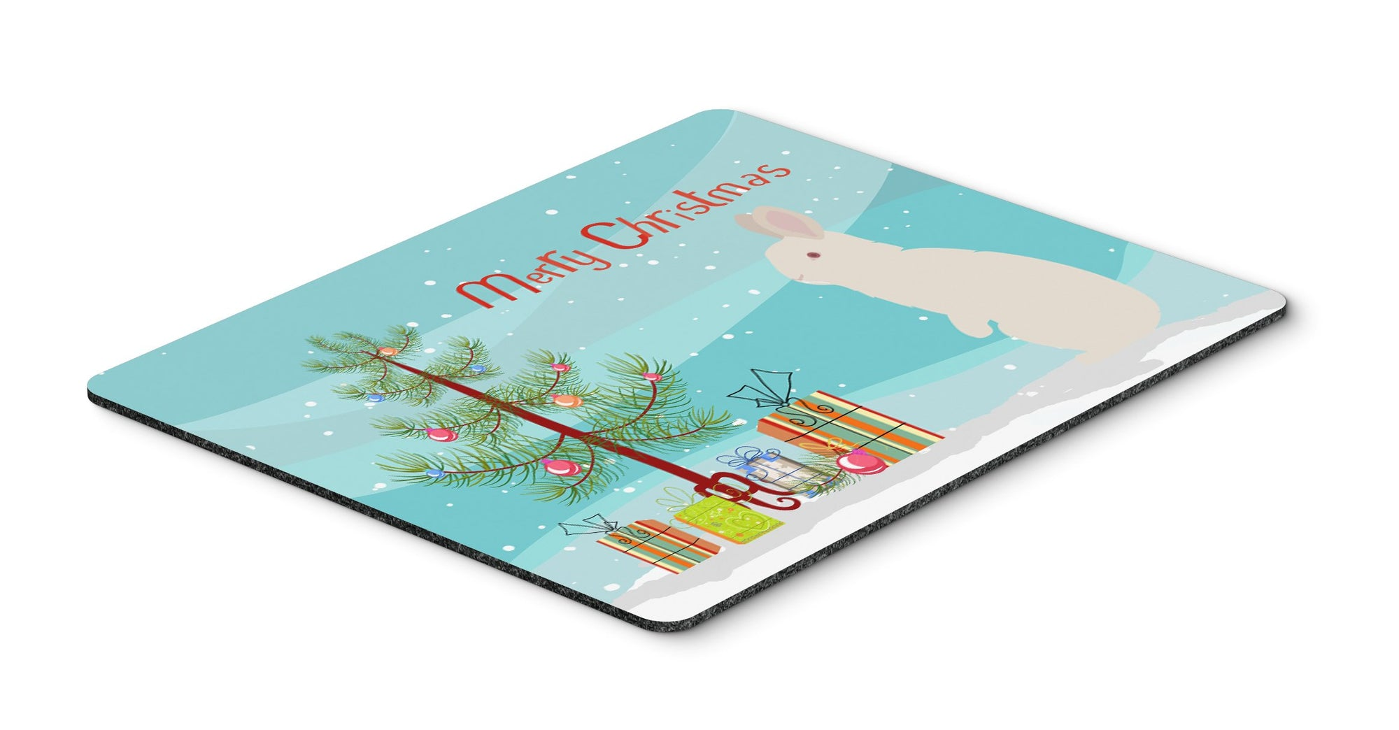 New Zealand White Rabbit Christmas Mouse Pad, Hot Pad or Trivet BB9332MP by Caroline's Treasures