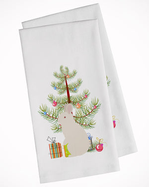 Buy this New Zealand White Rabbit Christmas White Kitchen Towel Set of 2 BB9332WTKT