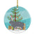 Buy this Giant Chinchilla Rabbit Christmas Ceramic Ornament BB9333CO1