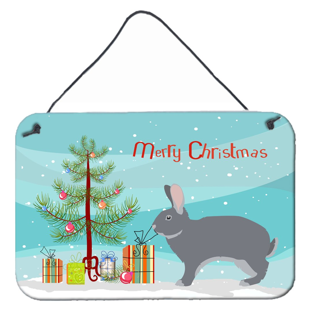 Buy this Giant Chinchilla Rabbit Christmas Wall or Door Hanging Prints BB9333DS812