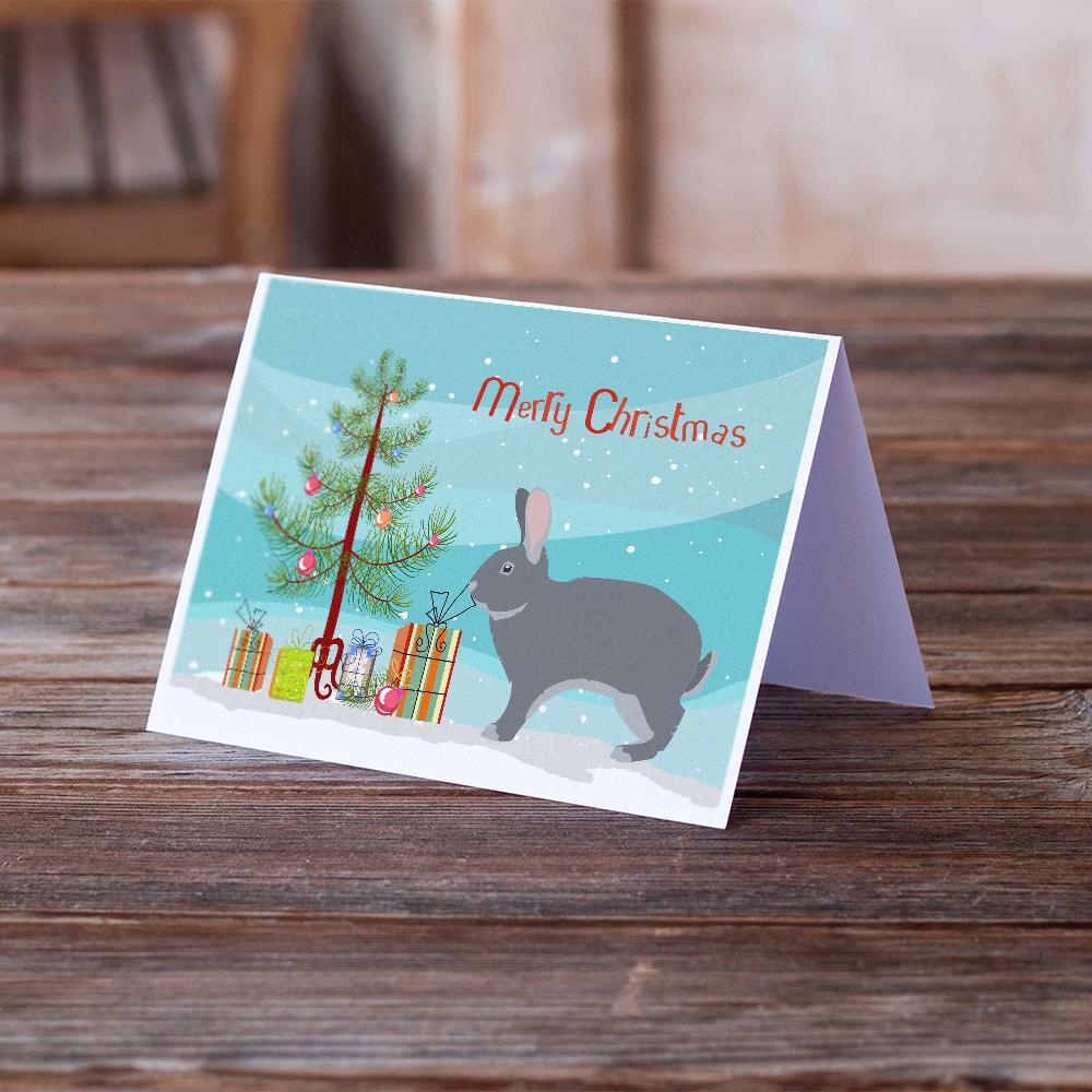 Buy this Giant Chinchilla Rabbit Christmas Greeting Cards and Envelopes Pack of 8