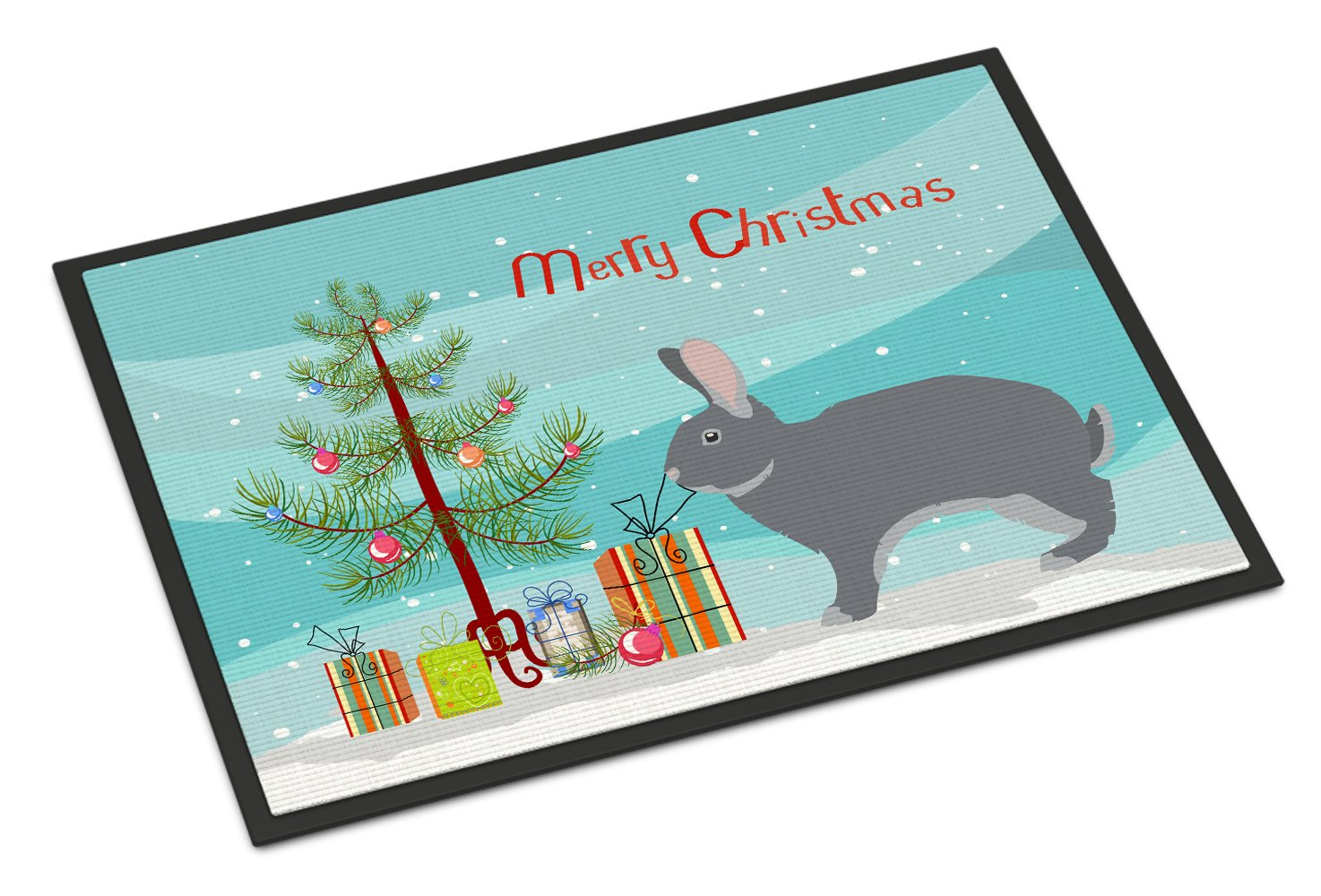 Buy this Giant Chinchilla Rabbit Christmas Indoor or Outdoor Mat 24x36 BB9333JMAT