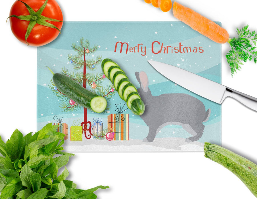 Buy this Giant Chinchilla Rabbit Christmas Glass Cutting Board Large BB9333LCB