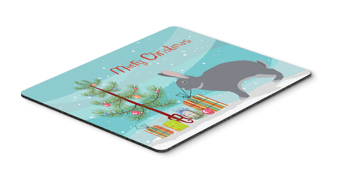 Buy this Giant Chinchilla Rabbit Christmas Mouse Pad, Hot Pad or Trivet BB9333MP