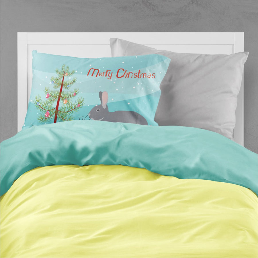 Buy this Giant Chinchilla Rabbit Christmas Fabric Standard Pillowcase BB9333PILLOWCASE