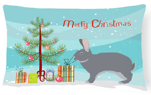 Buy this Giant Chinchilla Rabbit Christmas Canvas Fabric Decorative Pillow BB9333PW1216