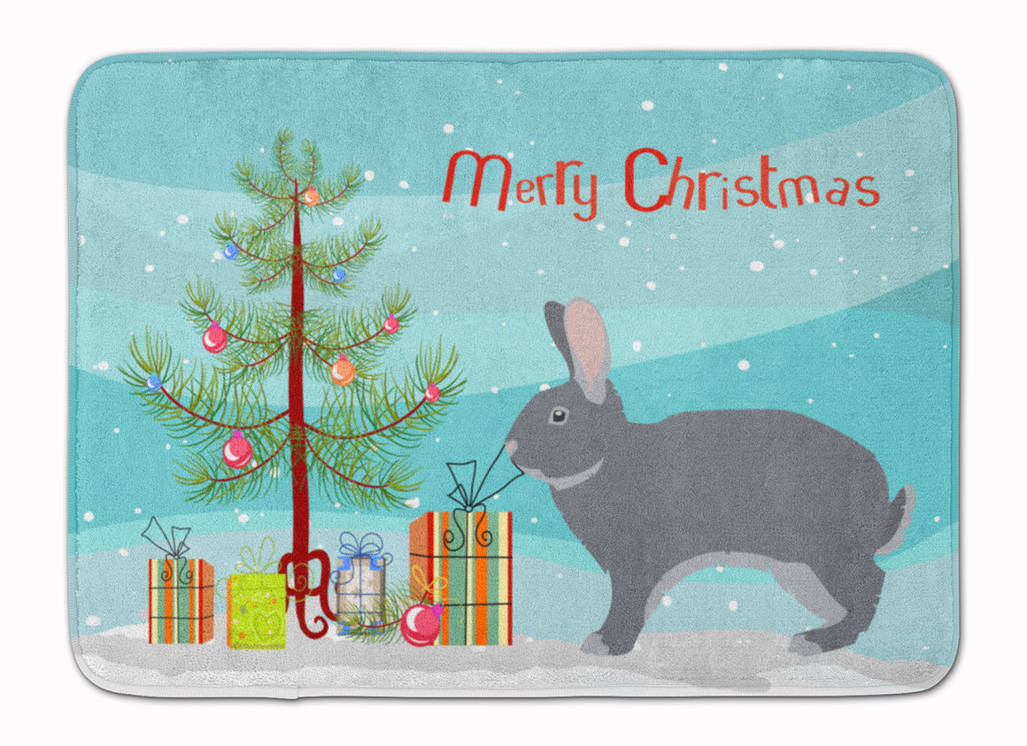 Buy this Giant Chinchilla Rabbit Christmas Machine Washable Memory Foam Mat BB9333RUG