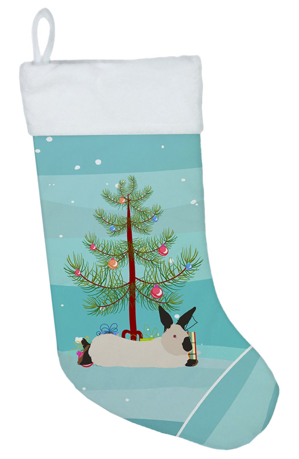 California White Rabbit Christmas Christmas Stocking BB9334CS by Caroline's Treasures