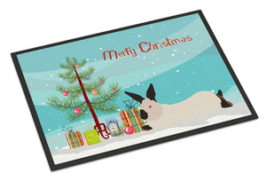 Buy this California White Rabbit Christmas Indoor or Outdoor Mat 24x36 BB9334JMAT