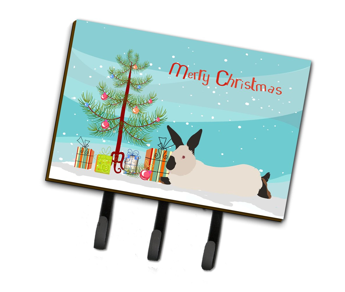 California White Rabbit Christmas Leash or Key Holder BB9334TH68 by Caroline's Treasures