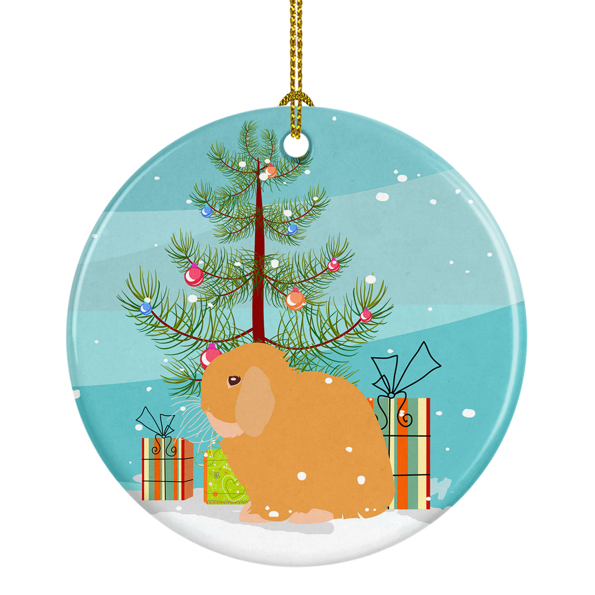Buy this Holland Lop Rabbit Christmas Ceramic Ornament BB9335CO1